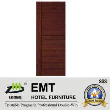 Solid Wood Modern Interior Hotel Room Door (EMT-HD06)