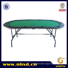 2 Folding 10 Person Poker Table with Iron Leg (SY-T08)