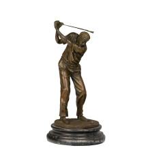 Estatua de bronce de los deportes Estatua de bronce de la decoración del golfista Tpy-394