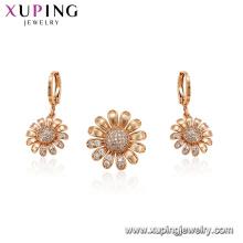 64752 xuping newest multi-stone sunflower Fashion women jewelry set