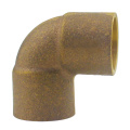 Löt Gunmetal Bronze Elbow