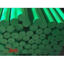 Экструзионная высокоплотная полиэтиленовая штанга HDPE зеленого цвета