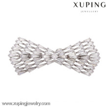 00015-xuping luxo cor prata mini broche, adoráveis mulheres broches de casamento
