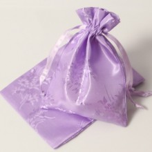 soft surface satin pouch/bag for hair extensions