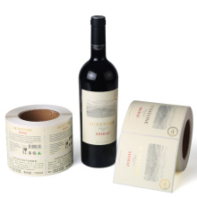 Étiquette de bouteille de verre de vin imperméable adhésive imprimée par coutume