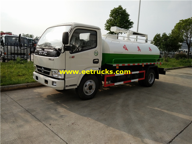4500L Feces Suction Tank Trucks