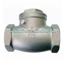 CF8M Female Threaded Stainless Steel Swing Check Valve