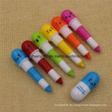 6 Farben Großhandel Kunststoff Versenkbare Vitamin Kugelschreiber