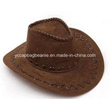 Chapéu de Fedora do vaqueiro de couro da forma