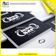 Lackier-Buchdruck Papier gestaltete Tinte Visitenkarten