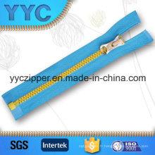 # 5 Open End Zipper Plastic pour vêtements de sport avec curseur personnalisé