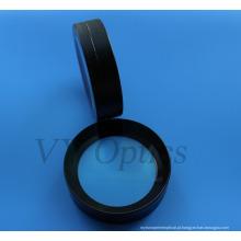 Lente esférica colada óptica para câmera subaquática com revestimento preto