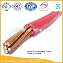 lv alambre eléctrico de cobre 2 4 6 8 10 15 25 35 mm2 cable de aislamiento pvc / cable eléctrico bv