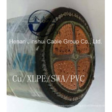 XLPE Insulated Underground Cable 4core 240mm2 Cu/XLPE/Swa/PVC
