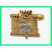 Gemelos de oro con logotipo grabado (m-CL03)