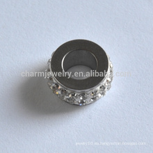 BXG024 Espaciador de acero inoxidable cuentas de joyería hallazgos níquel libre joyería de fabricación conclusiones perlas sueltas a través de agujero de conector