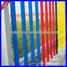 Colourful Metal Bar Palisade Fence