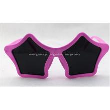 Óculos de sol do partido da novidade do divertimento da forma da estrela, cor-de-rosa
