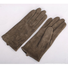 Lady Fashion Goatskin Suede Leather Driving Gloves (YKY5207)
