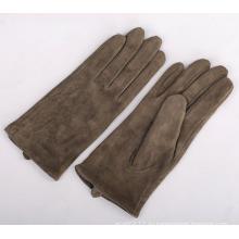 Леди мода кожа замша кожаные перчатки для вождения (YKY5207)