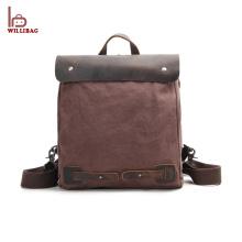 New Design Laptop Backpack Men Leather Custom Backpack