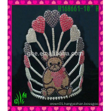 New design wholesale,Beautiful animal wholesale rhinestone beautiful tiara