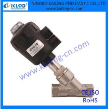 Válvula neumática del asiento del ángulo de control, para el aire, el agua, el gas, el vapor, el aceite, el actuador plástico (serie de KLJZF)