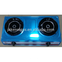 stainless steel double burner infra red tabel gas stove, gas cooker