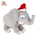 SA8000 Socia Auditoria atacado personalizado cinza animal de pelúcia elefante brinquedo de pelúcia com orelhas grandes