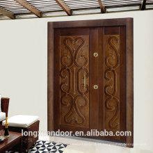 Porta blindada personalizada de fábrica, portas de aço de estilo turquia, porta de segurança de aço popular