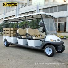 Carro elétrico do clube do carrinho de golfe de 4 assentos a pilhas de EXCAR 48V com caixa da carga