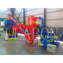 La paja de bajo costo acecha la línea completa de pellets de madera de cáscara de arroz (LB450-MX)