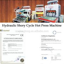 Hydraulische Heißpresslaminiermaschine für MDF / HDF Holzplatte
