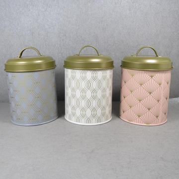 Home Basics Small Tin Canister