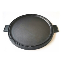 Round Cast Iron Griddle Pre-Seasoned Grill Plate for BBQ