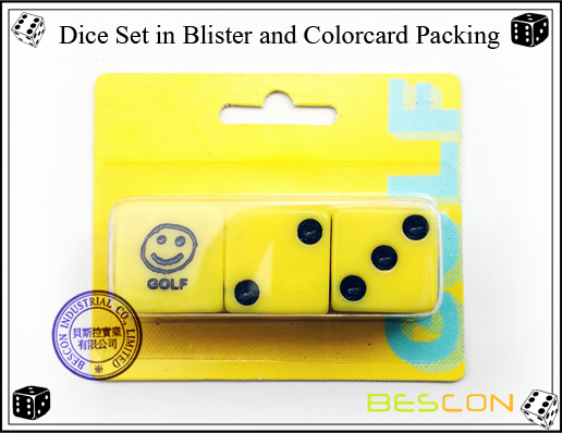 Dice Set in Blister and Colorcard Packing