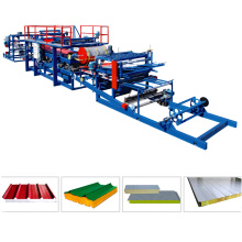 Chine fournisseur sandwich panneau machine ligne de production / eps pu sandwich panneau machine