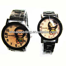 year of the monkey stainless steel strap watches set couple wrist watch