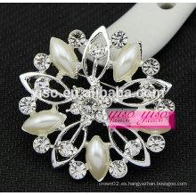 Broche de cristal de boda ramillete de flores