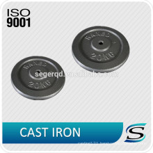 Cast iron weight plate for barbell