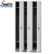 Design moderno venda quente material de aço 3 porta almirah preço