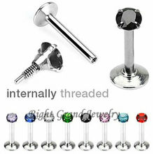 New Design 3MM Cubic Zirconia Prong Setting Body Piercing Jewelry