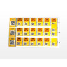 Etiqueta de papel Etiqueta de plástico Impresión de adhesivo transparente