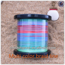Línea de pesca de trenza de color BRLN004 1200 spool muti