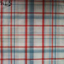 100% tissu tissé de fil de popeline de coton teint pour des chemises / robe Rls40-47po