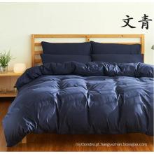 Conjunto de roupa de cama de microfibra escovado sólido