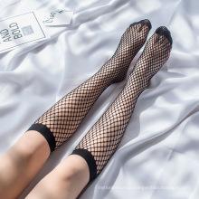 2019 New desgin hot sale women cheap black knee high boot silk socks stockings
