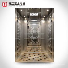 China Supplier ZhuJiangFuji Machineroom Stainless Steel Mirror Hairline Passenger ascensor elevator
