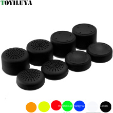 Manípulos coloridos de silicone analógico aprimorados para o joystick Caps extra extra para Sony Dualshock 4 PS4 Controller