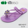 Elegant Ladies Latest Fashion Beautiful Plastic Pvc Slipper